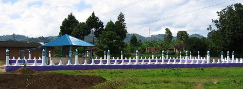 The completed Rugerero Genocide Memorial Park with a monument and a bone chambe