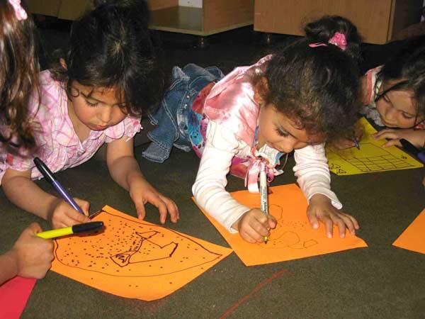 Kindergarten students in Al Aquaba.