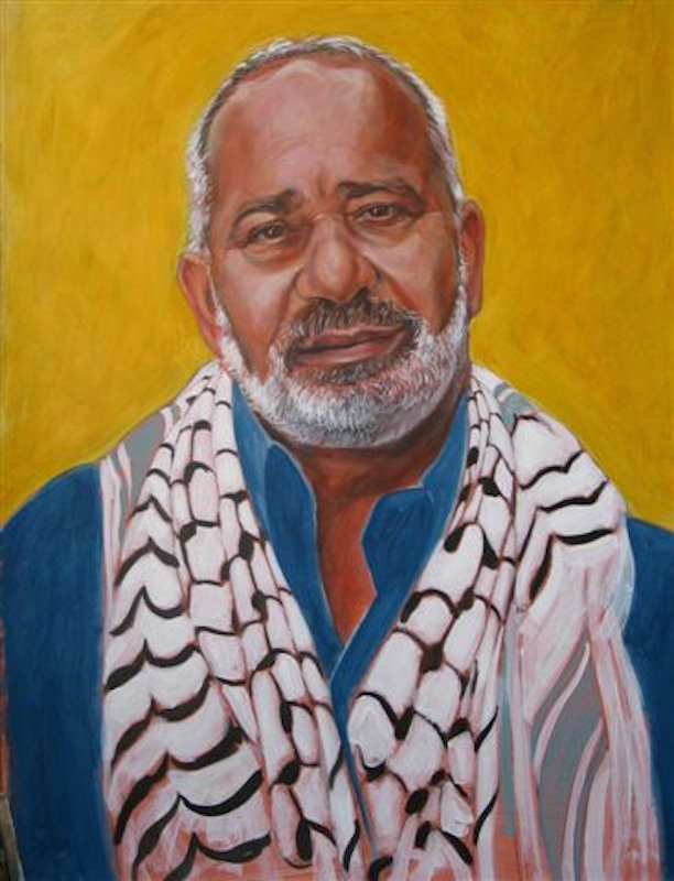 Moved by the resourcefulness and fortitude of Haj Sami, Rob Shetterly painted his portrait.